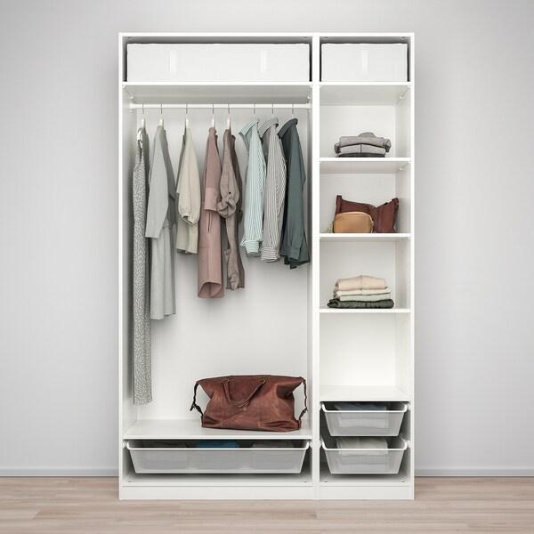 PAX Wardrobe combination, white, 150x58x236 cm