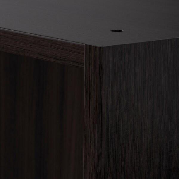 PAX Wardrobe frame, black-brown, 50x35x201 cm