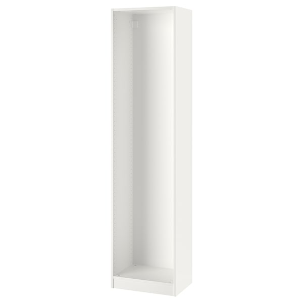 PAX Wardrobe frame, white, 50x35x201 cm