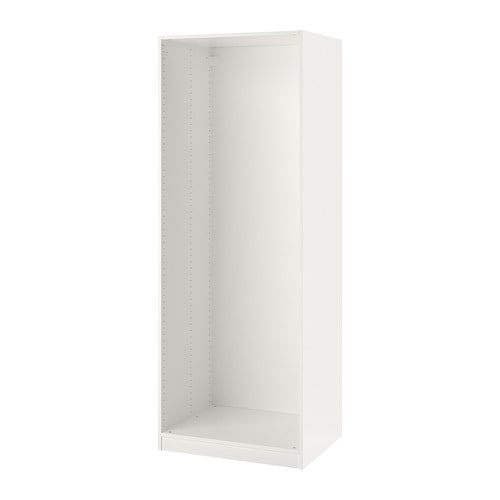 pax wardrobe frame white 75 x 58 x 201 cm ikea. Black Bedroom Furniture Sets. Home Design Ideas