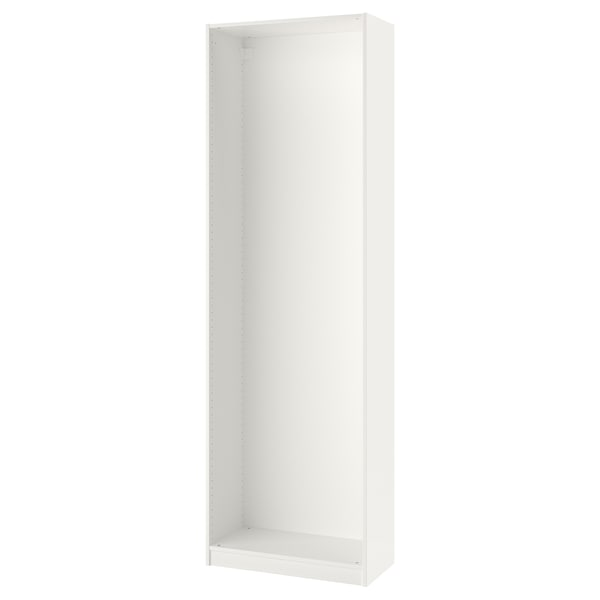 PAX Wardrobe frame, white, 75x35x236 cm