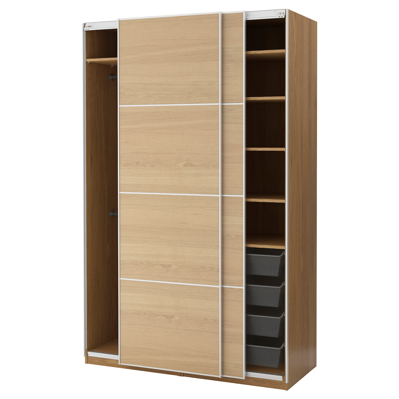 pax wardrobe oak effect ilseng oak veneer 150 x 66 x 236 cm ikea. Black Bedroom Furniture Sets. Home Design Ideas