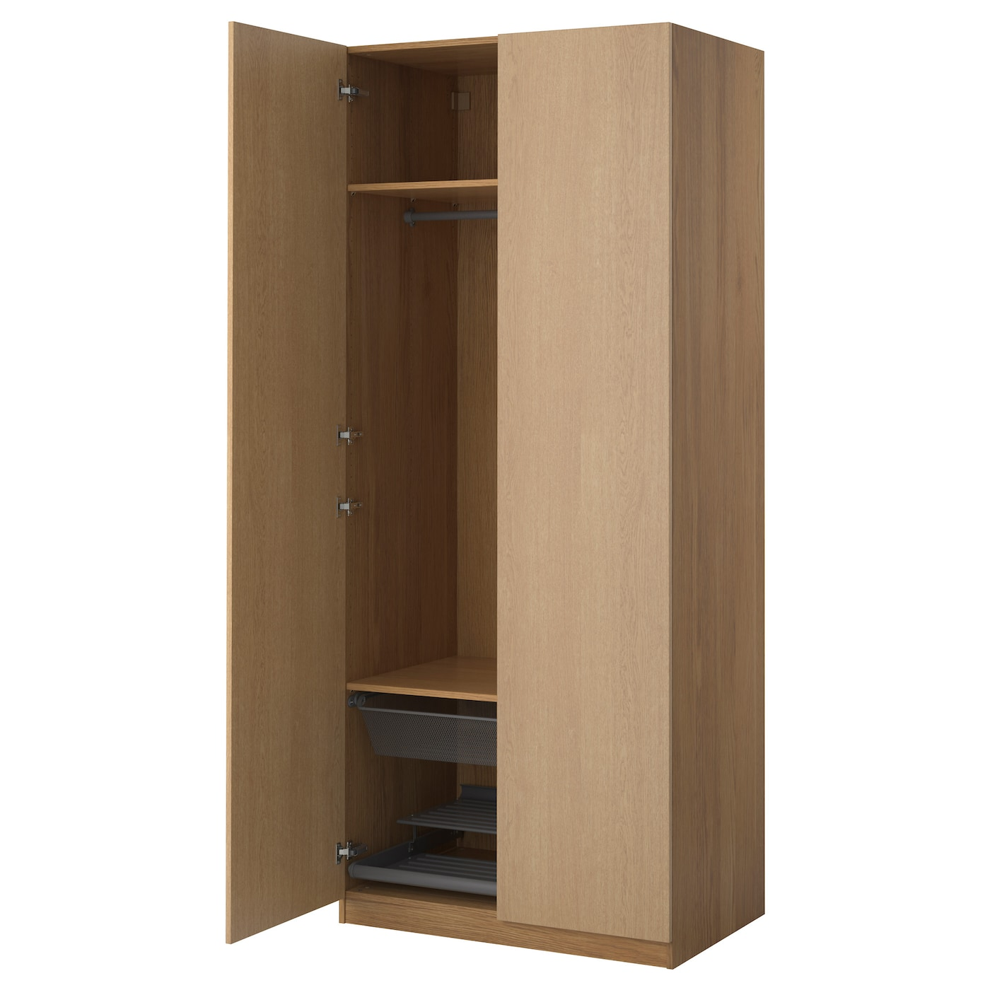 pax wardrobe oak effect nexus oak veneer 100x60x236 cm ikea. Black Bedroom Furniture Sets. Home Design Ideas