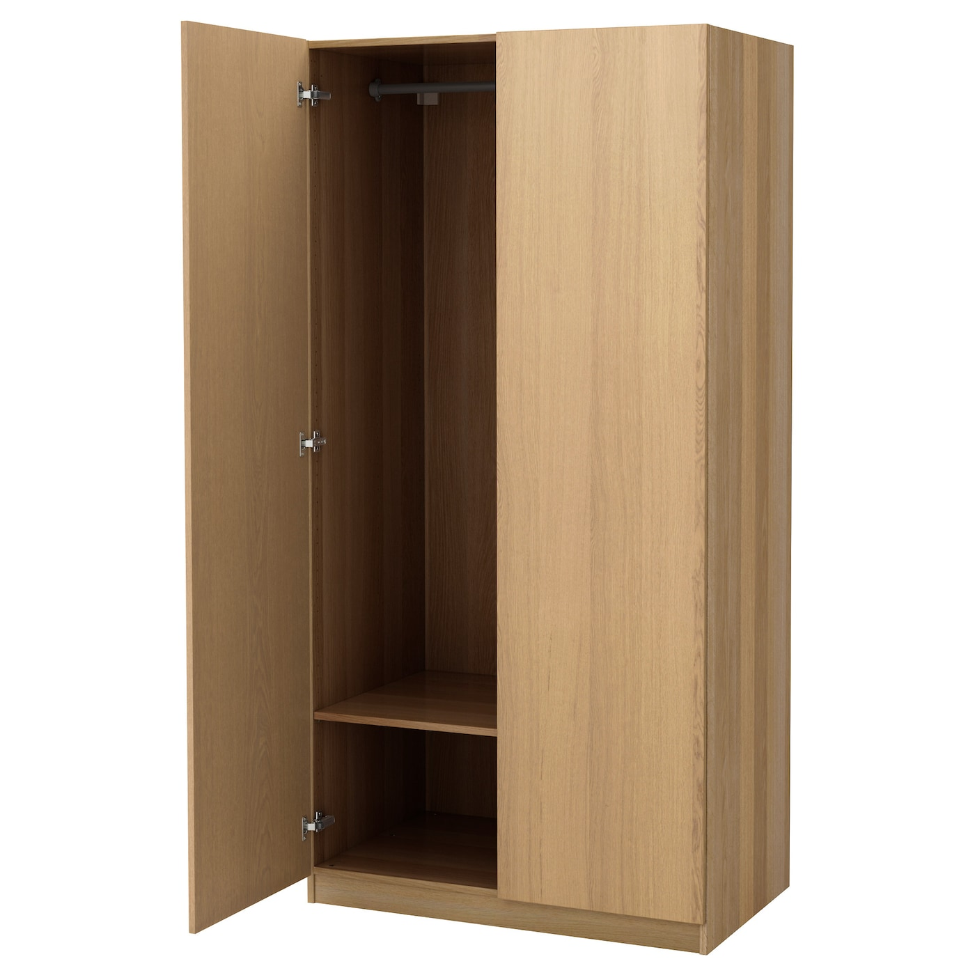pax wardrobe oak effect nexus oak veneer 100x60x201 cm ikea. Black Bedroom Furniture Sets. Home Design Ideas