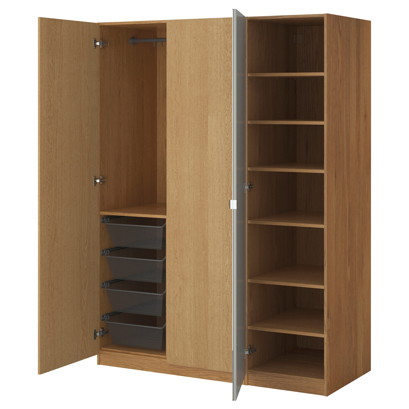 design storage captivating ideas corner system white furniture closet clothes oak ikea organizing with and featuring wardrobe wooden home racks hanging compact for portable also easy shoes pax open shelves fabulous