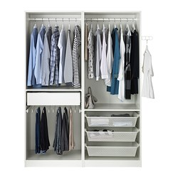 pax wardrobe white auli mirror glass 150x66x201 cm ikea. Black Bedroom Furniture Sets. Home Design Ideas