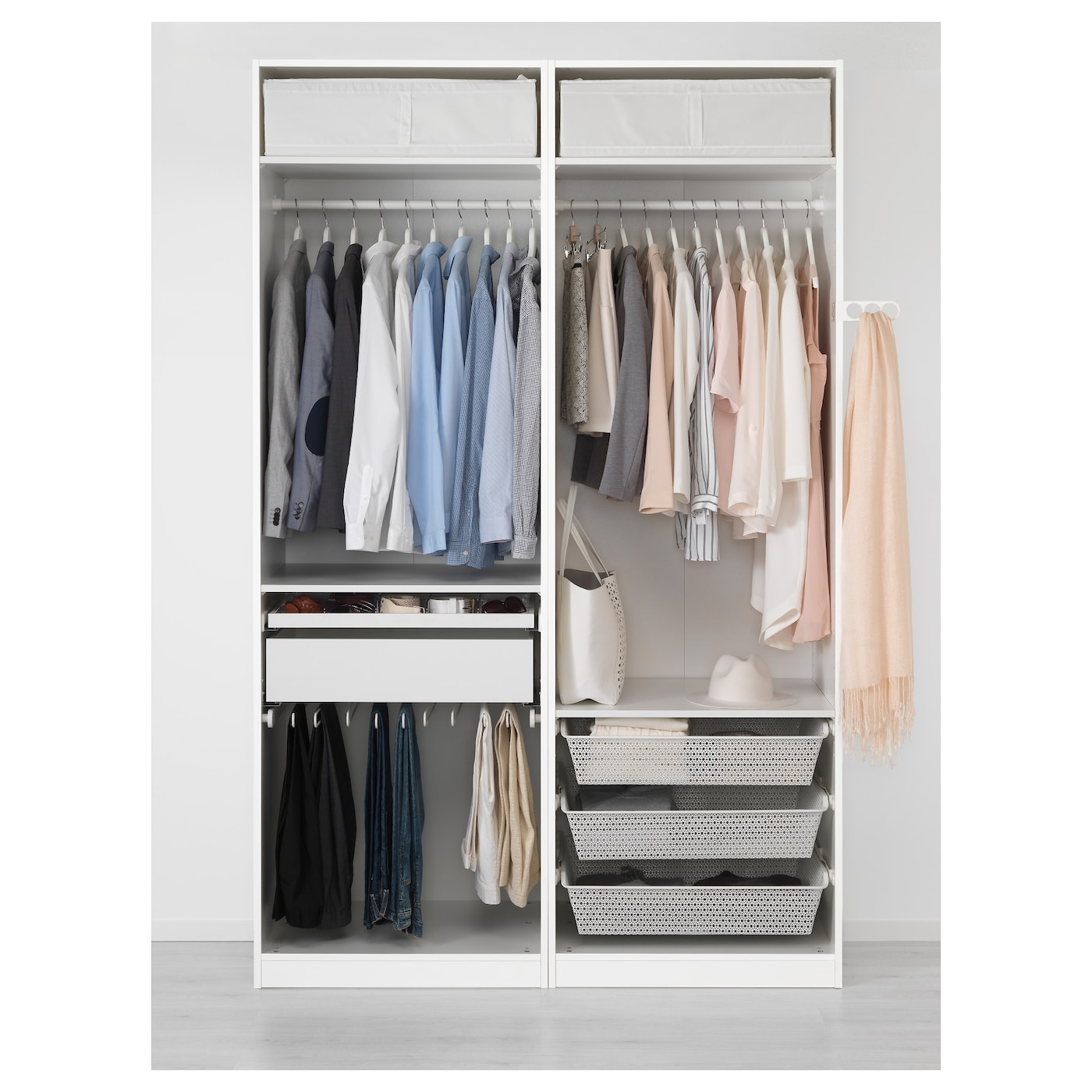 pax wardrobe white auli mirror glass 150x66x236 cm ikea. Black Bedroom Furniture Sets. Home Design Ideas