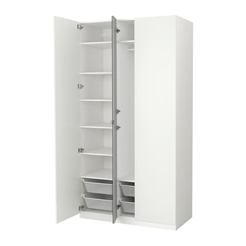 pax wardrobe white ballstad vikedal 125x60x236 cm ikea. Black Bedroom Furniture Sets. Home Design Ideas