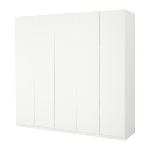 pax wardrobe white ballstad white 250x60x236 cm ikea. Black Bedroom Furniture Sets. Home Design Ideas