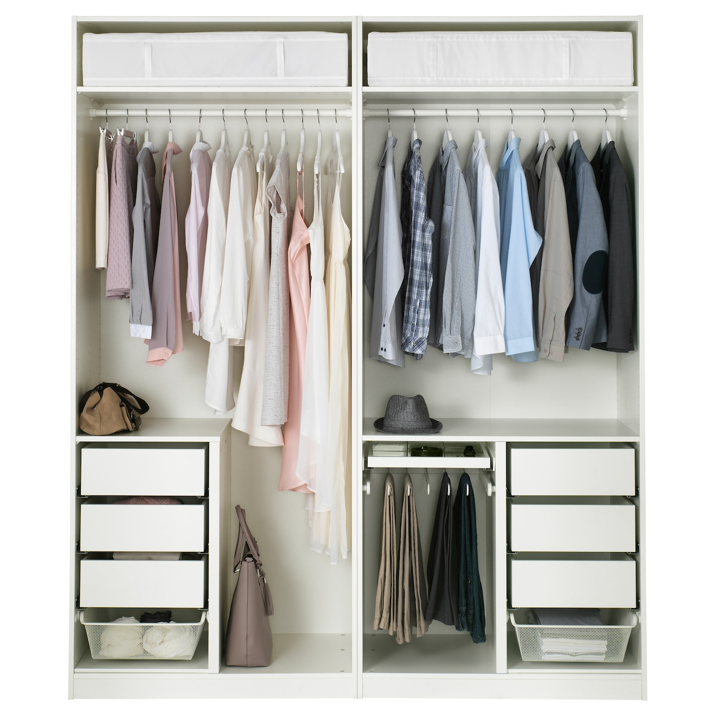 pax wardrobe white bergsbo frosted glass 200x60x236 cm ikea. Black Bedroom Furniture Sets. Home Design Ideas