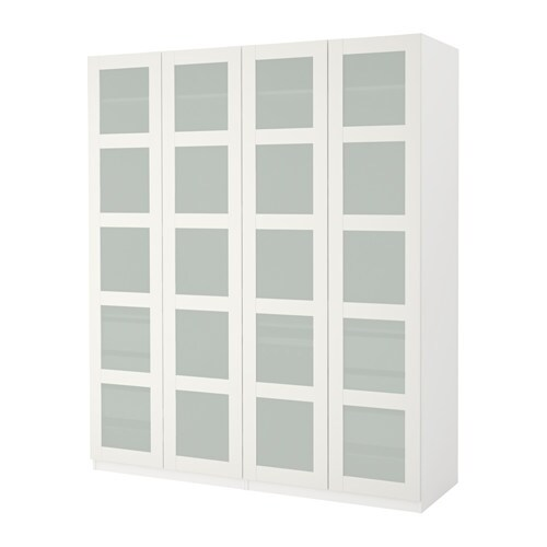 Mario Fernandes Pes ~ PAX Wardrobe White bergsbo frosted glass 200x60x236 cm IKEA