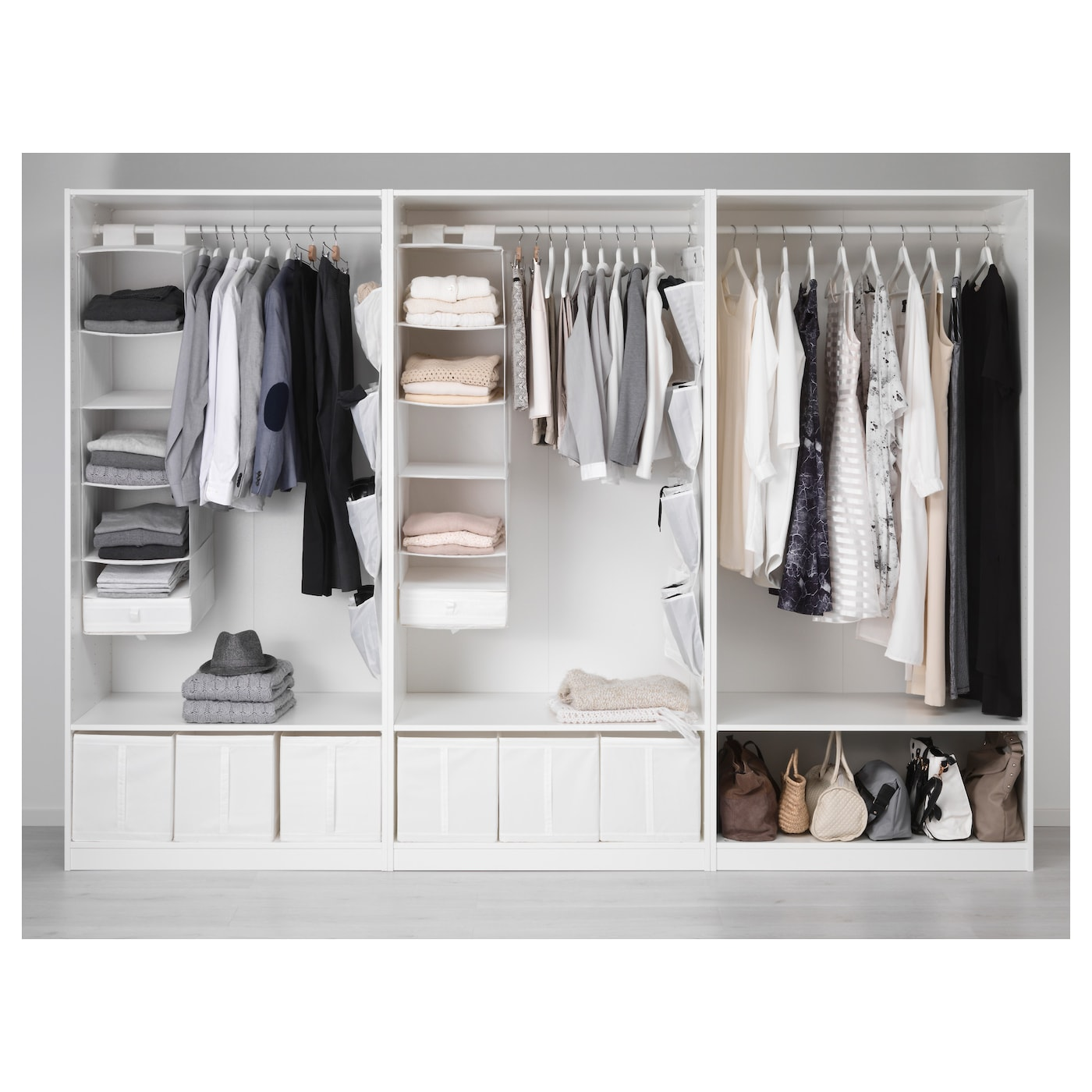 Pax wardrobe white bergsbo vikedal 300x60x201 cm ikea for Ikea wardrobe