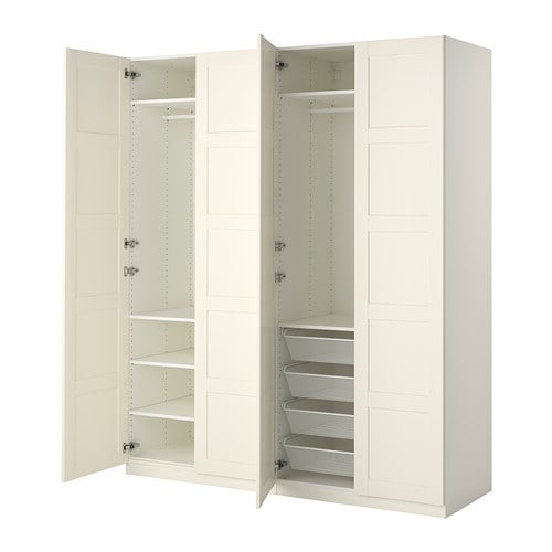 pax wardrobe white bergsbo white 200x60x236 cm ikea. Black Bedroom Furniture Sets. Home Design Ideas