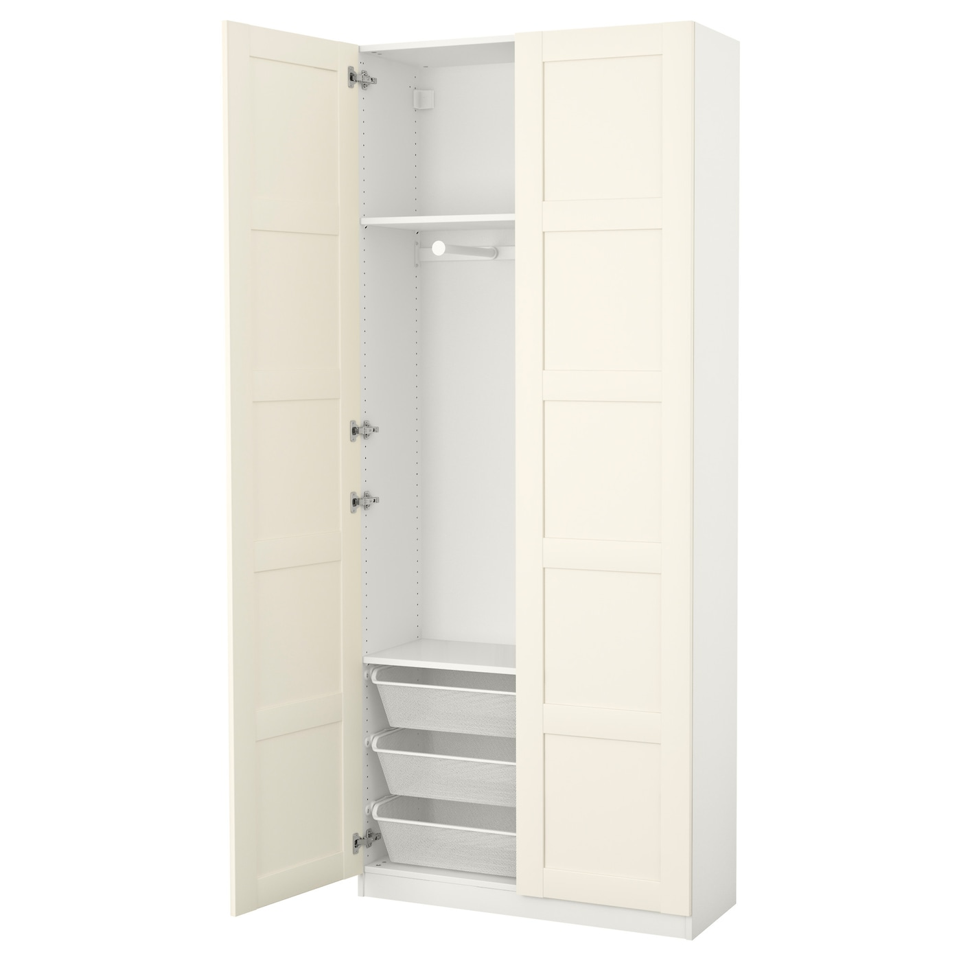 pax wardrobe white bergsbo white 100 x 38 x 236 cm ikea. Black Bedroom Furniture Sets. Home Design Ideas