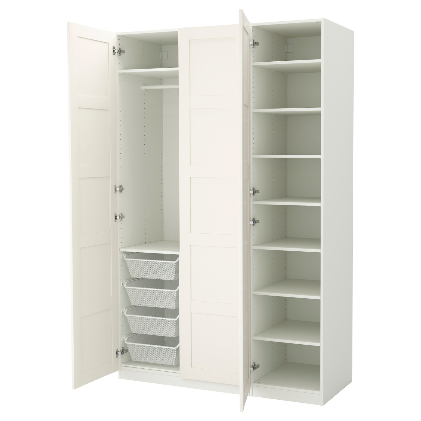 pax wardrobe white bergsbo white 150x60x236 cm ikea. Black Bedroom Furniture Sets. Home Design Ideas