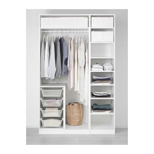 pax wardrobe white bergsbo white 150x60x236 cm ikea. Black Bedroom Furniture Sets. Home Design Ideas