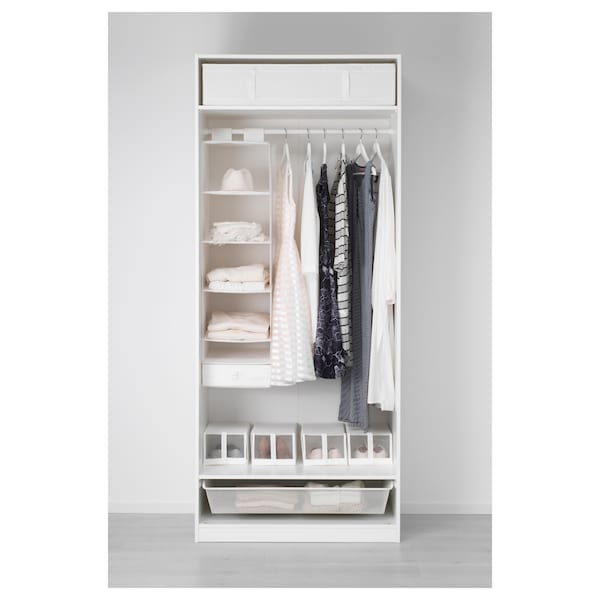 PAX Wardrobe, white/Bergsbo white, 100x60x236 cm