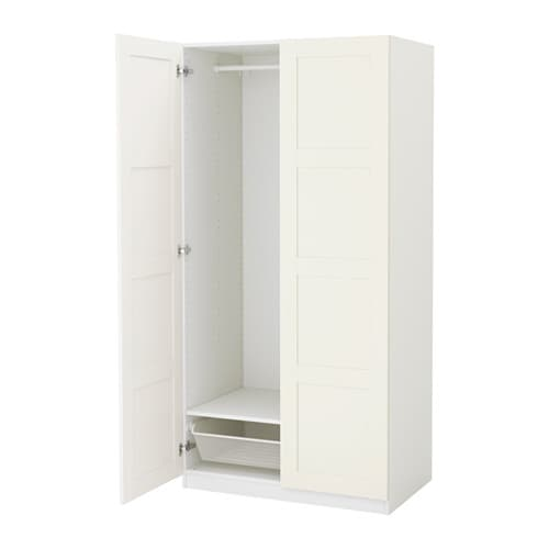 Pax wardrobe white bergsbo white 100x60x201 cm ikea for Sideboard 2 m breit