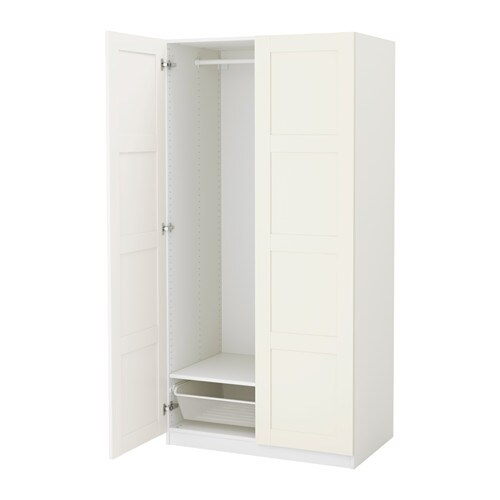 pax wardrobe white bergsbo white 100x60x201 cm ikea. Black Bedroom Furniture Sets. Home Design Ideas