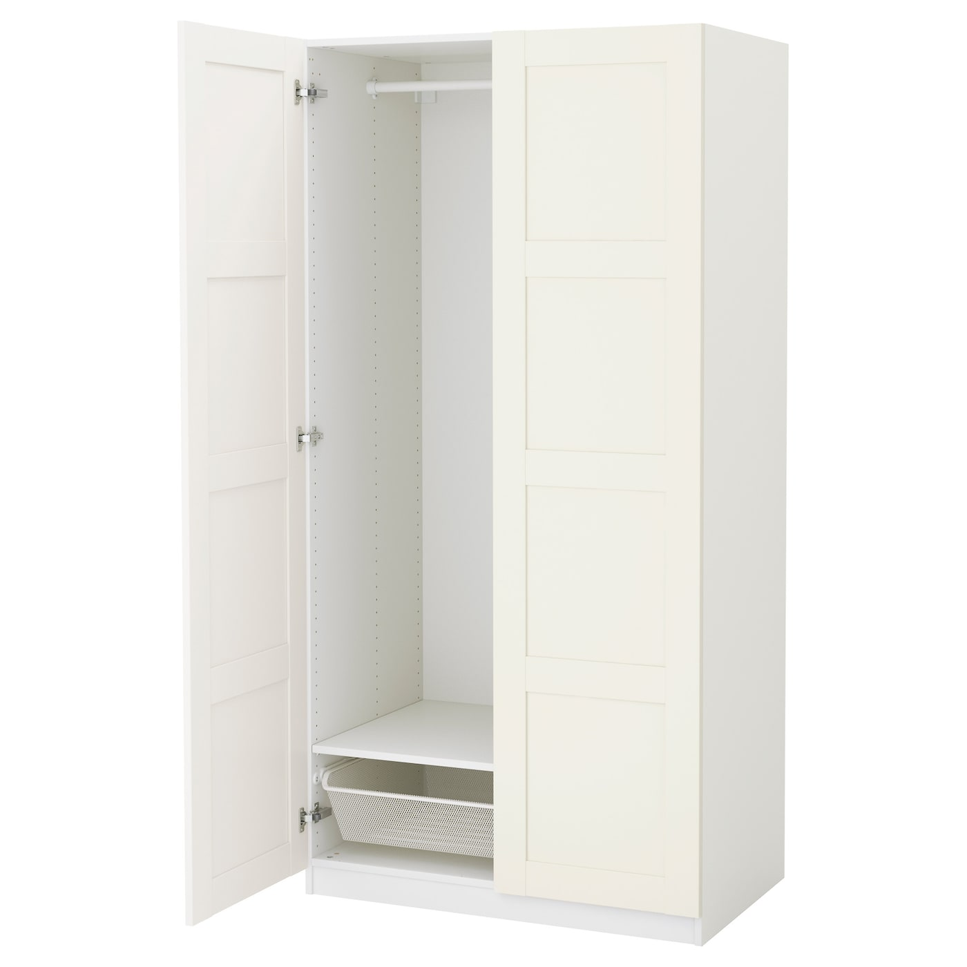 white ikea wardrobe effect p stained oak photo shelves pax frame