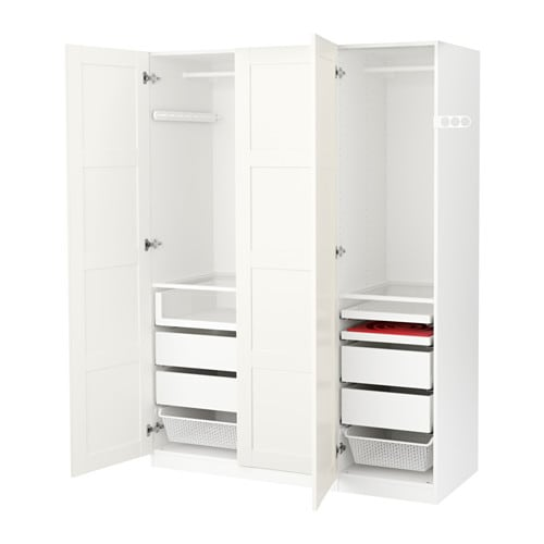 Pax wardrobe white bergsbo white 150x60x201 cm ikea - Armoire penderie dressing ...