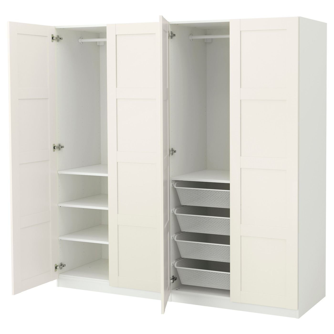 Pax wardrobe white bergsbo white 200x60x201 cm ikea - Dimension dressing ikea ...