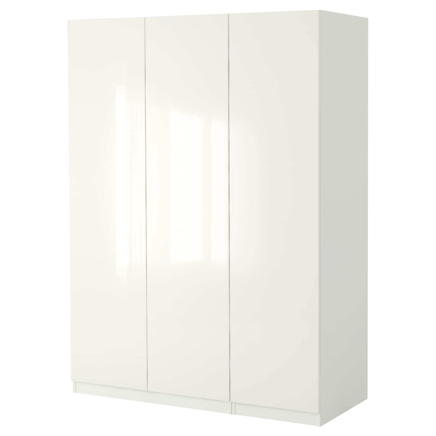 Pax Wardrobe White Fardal High Gloss White 150 X 60 X 236