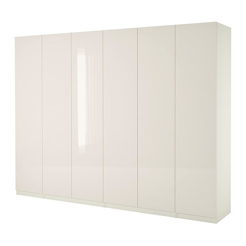pax wardrobe white fardal high gloss white 300x60x236 cm ikea. Black Bedroom Furniture Sets. Home Design Ideas