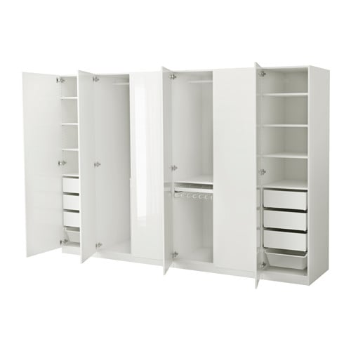 pax wardrobe white fardal high gloss white 300x60x201 cm ikea. Black Bedroom Furniture Sets. Home Design Ideas
