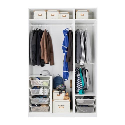 pax wardrobe white fardal vikedal 150x60x236 cm ikea. Black Bedroom Furniture Sets. Home Design Ideas