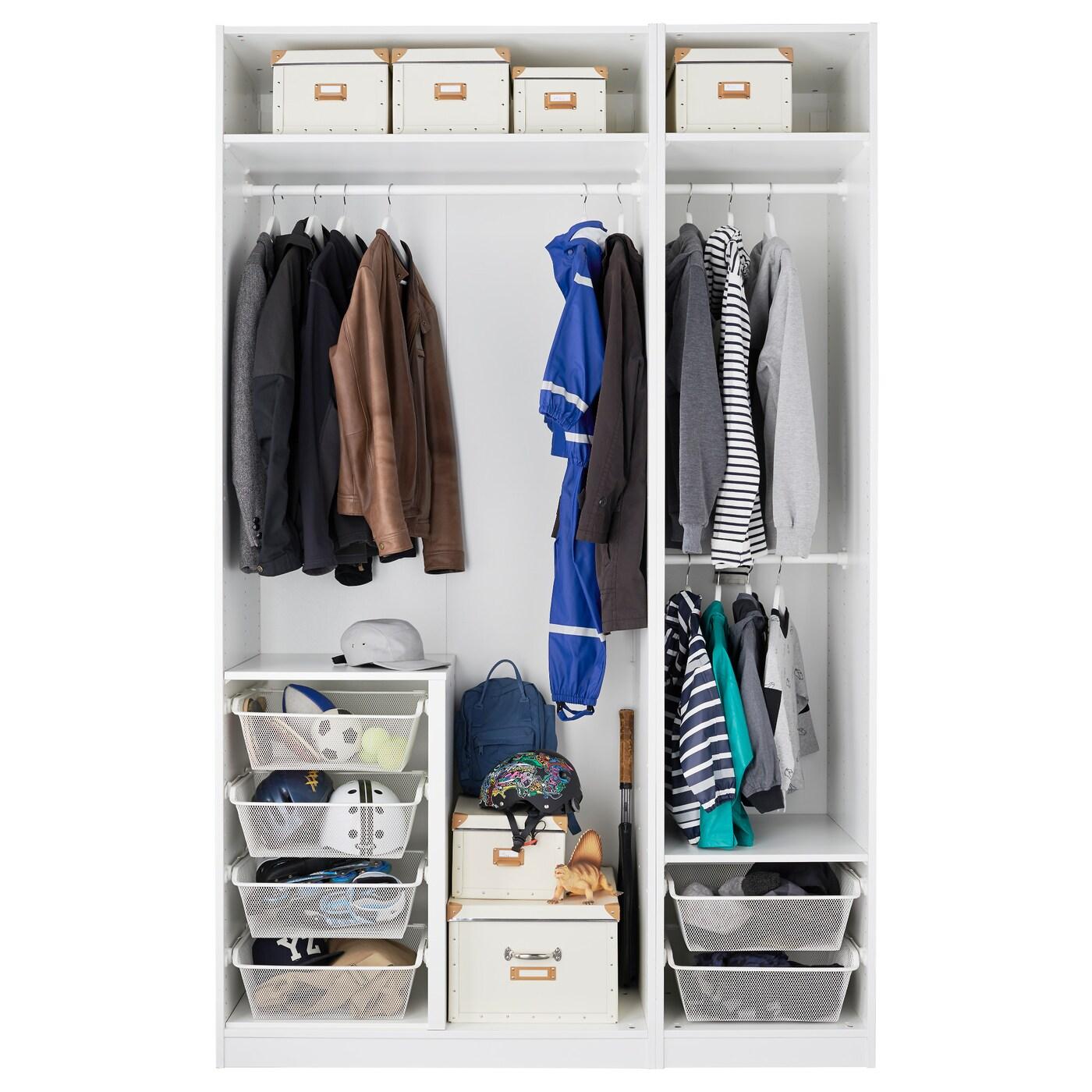 PAX Wardrobe White/fardal Vikedal 150 X 60 X 236 Cm