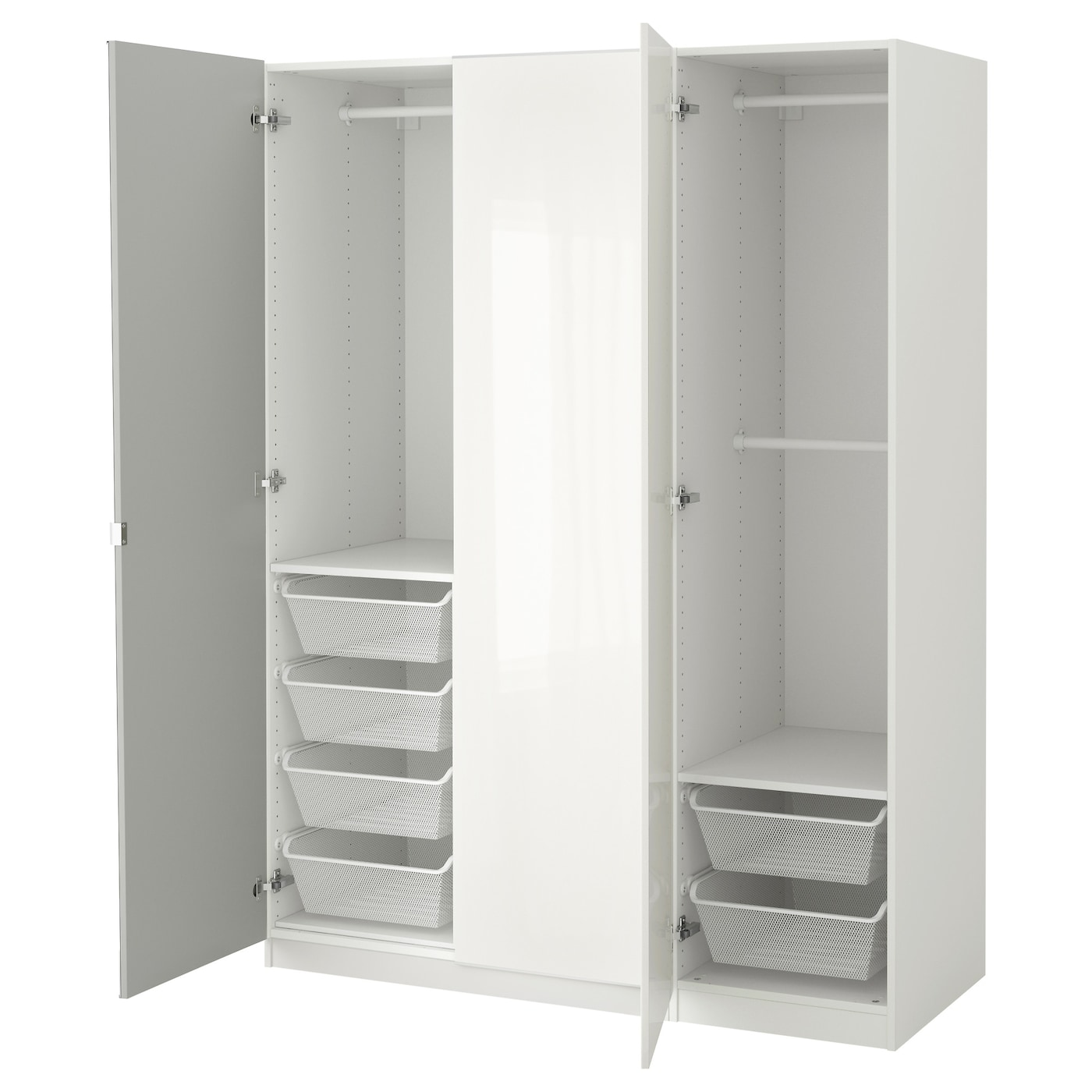 pax wardrobe white fardal vikedal 150 x 60 x 201 cm ikea. Black Bedroom Furniture Sets. Home Design Ideas