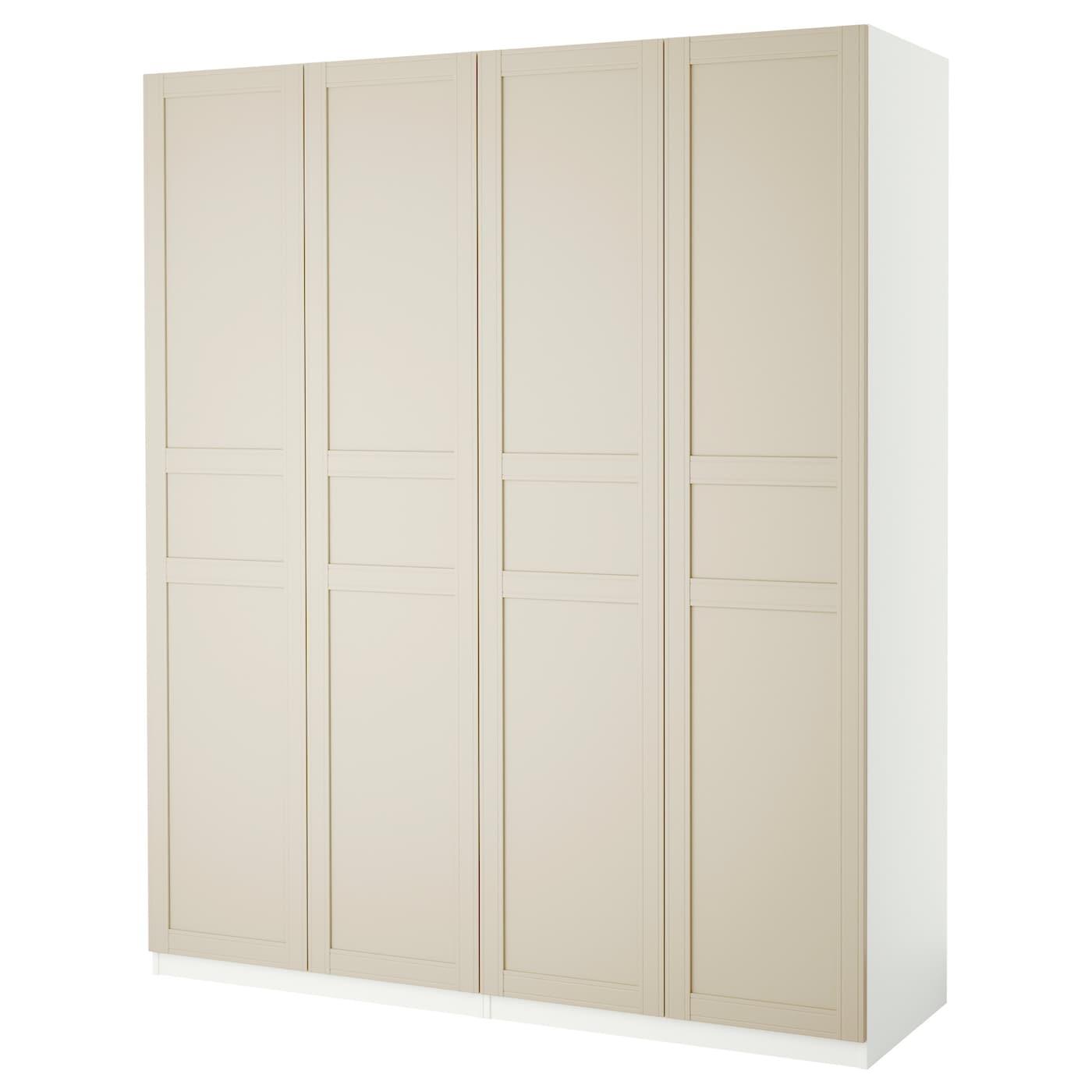 pax wardrobe white flisberget light beige 200x60x236 cm ikea. Black Bedroom Furniture Sets. Home Design Ideas