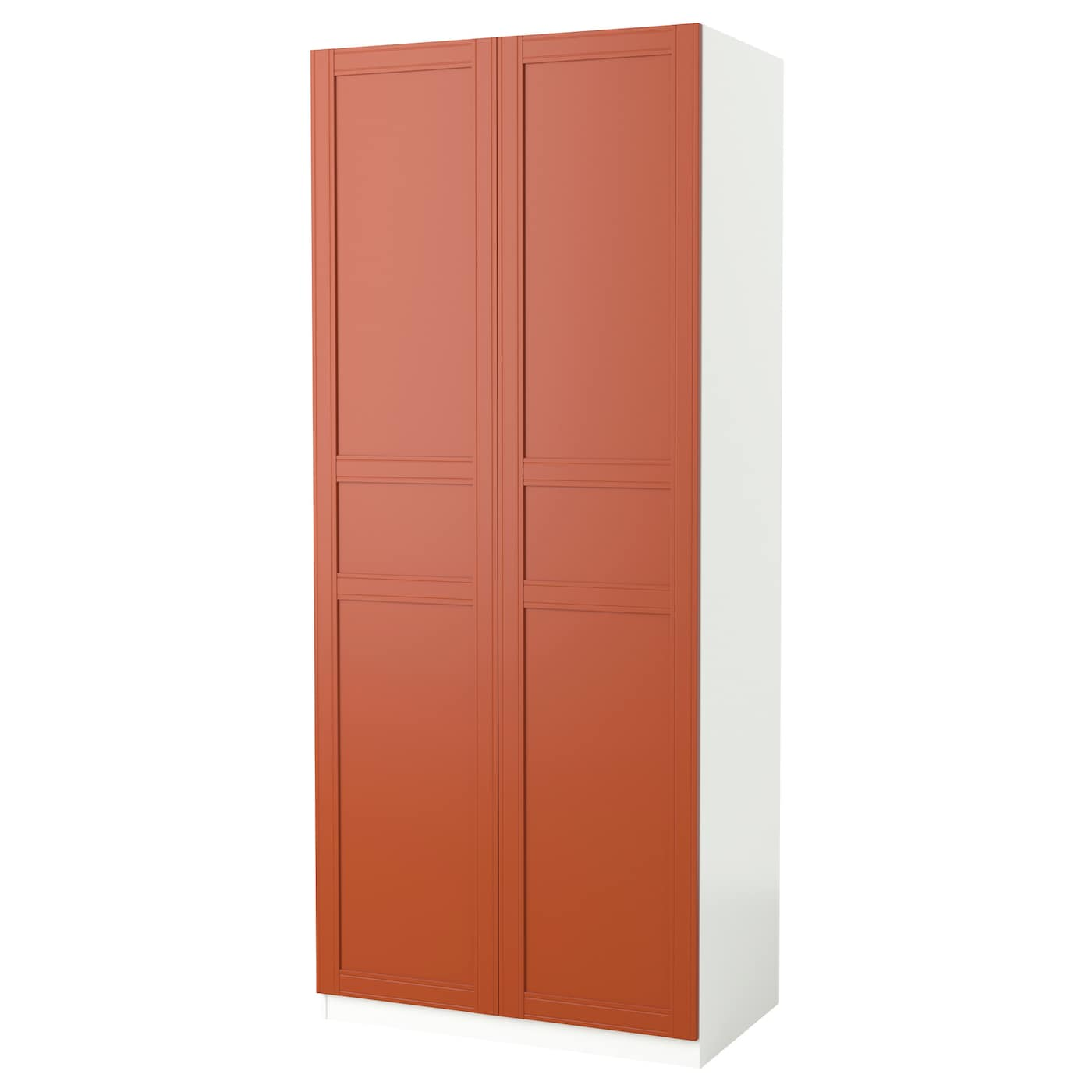 pax wardrobe white flisberget red brown 100x60x236 cm ikea. Black Bedroom Furniture Sets. Home Design Ideas