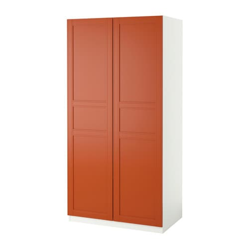 pax wardrobe white flisberget red brown 100x60x201 cm ikea. Black Bedroom Furniture Sets. Home Design Ideas