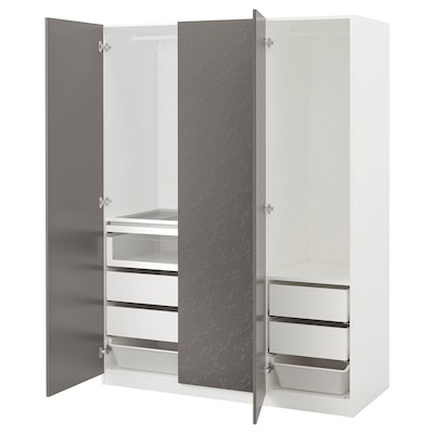 IKEA PAX White, Flornes Dark Gray