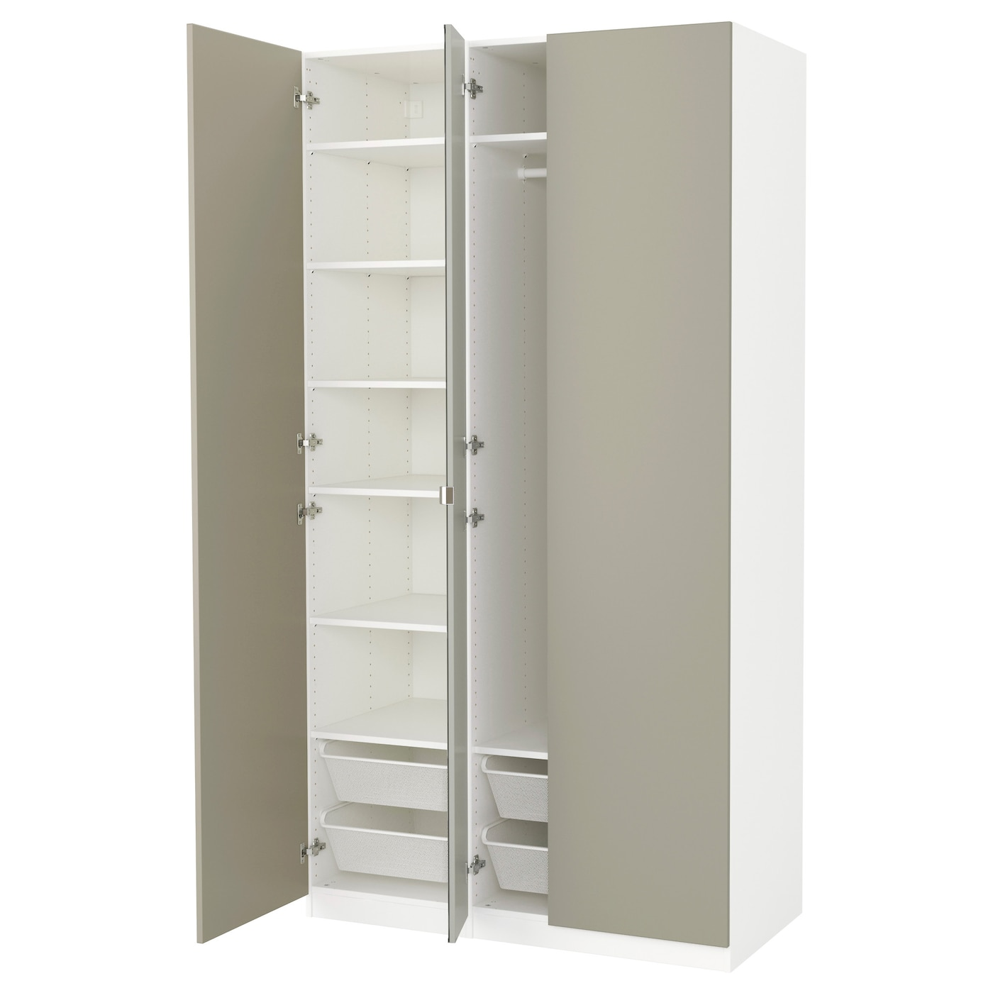 pax wardrobe white forsand vikedal 125x60x236 cm ikea. Black Bedroom Furniture Sets. Home Design Ideas