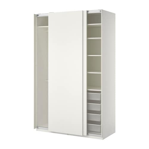 pax wardrobe white hasvik white 150x66x236 cm ikea. Black Bedroom Furniture Sets. Home Design Ideas