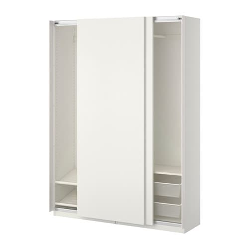pax wardrobe white hasvik white 150x44x201 cm ikea. Black Bedroom Furniture Sets. Home Design Ideas