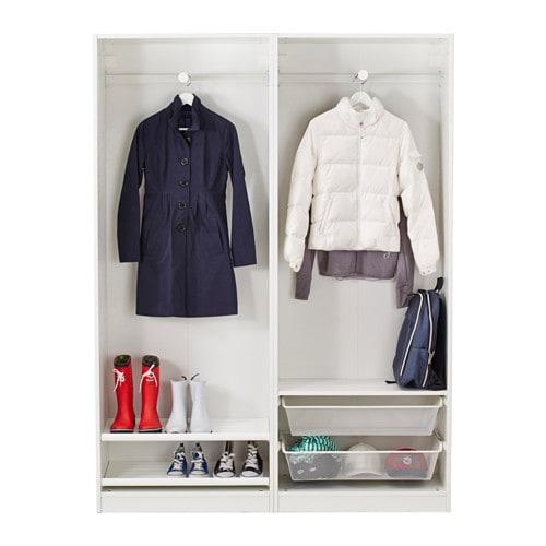 Pax Wardrobe White Hasvik White 150x44x201 Cm Ikea