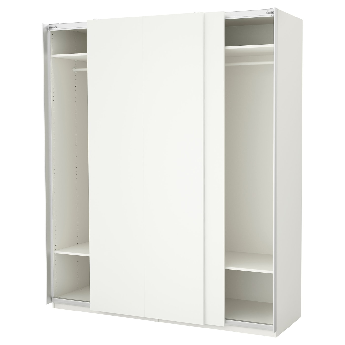 pax wardrobe white hasvik white 200 x 66 x 236 cm ikea. Black Bedroom Furniture Sets. Home Design Ideas