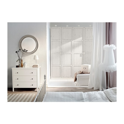 pax wardrobe white hemnes white stain 200x60x236 cm ikea. Black Bedroom Furniture Sets. Home Design Ideas