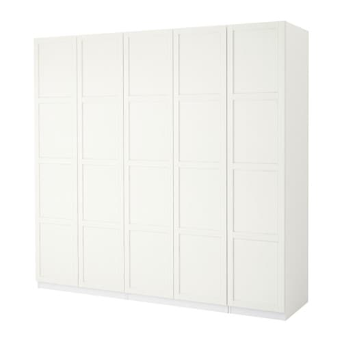 PAX Wardrobe White hemnes white stain 250x60x236 cm IKEA