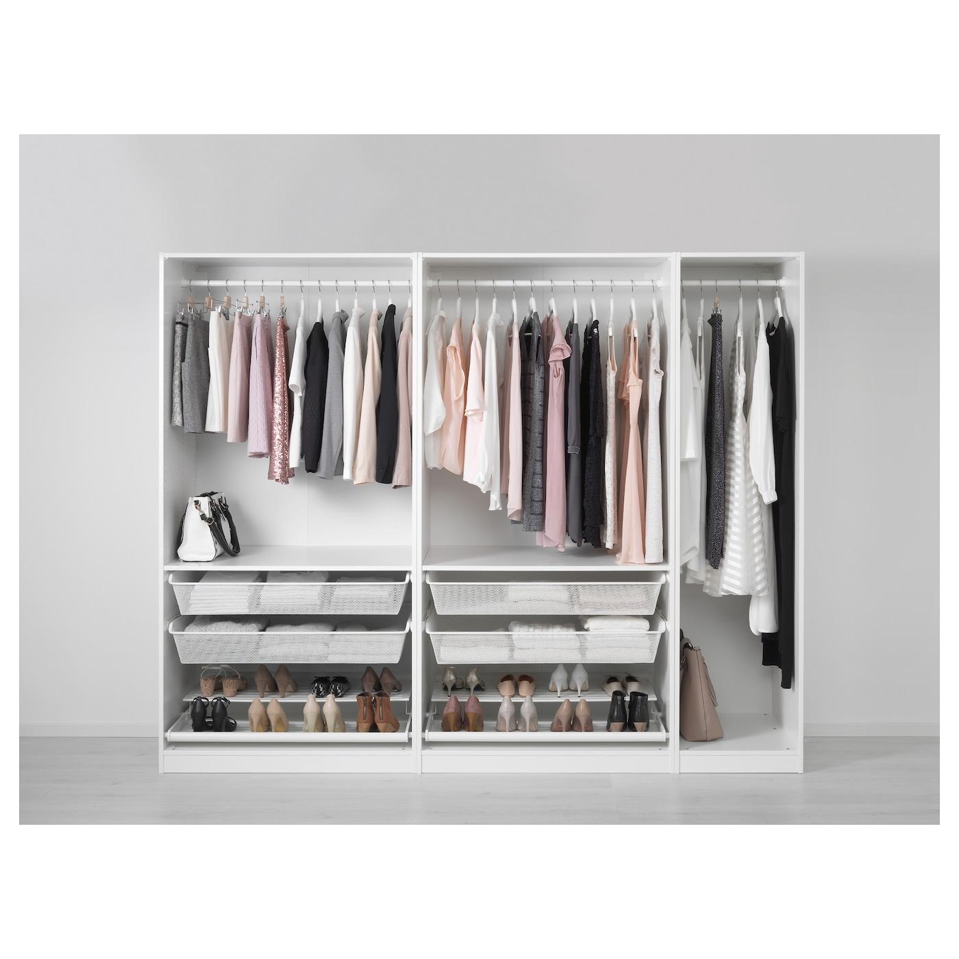 pax wardrobe white hemnes white stain 250x60x201 cm ikea. Black Bedroom Furniture Sets. Home Design Ideas