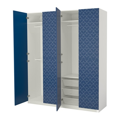 pax wardrobe white marnardal forsand 200x60x236 cm ikea. Black Bedroom Furniture Sets. Home Design Ideas