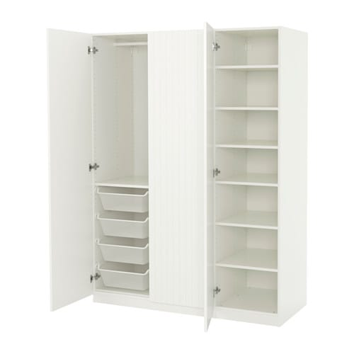 pax wardrobe white marnardal striped white beige. Black Bedroom Furniture Sets. Home Design Ideas