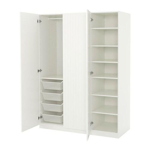 pax wardrobe white marnardal striped white beige. Black Bedroom Furniture Sets. Home Design Ideas