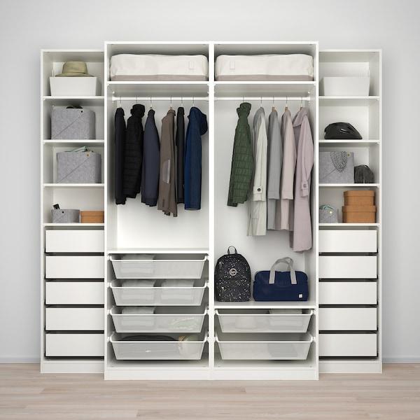 PAX wardrobe white/Mehamn 250.0 cm 66.0 cm 236.4 cm