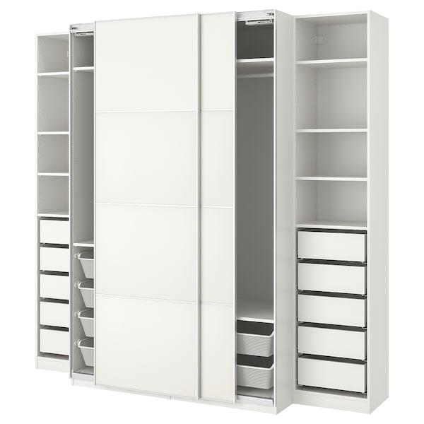 pax wardrobe white mehamn ikea. Black Bedroom Furniture Sets. Home Design Ideas