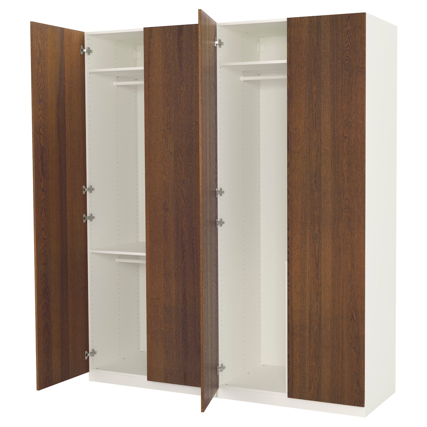 Pax wardrobe white nexus brown stained ash veneer 200 x 60 x 236 cm ikea - Ikea armoire d angle pax ...
